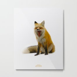 Yawning Fox Metal Print
