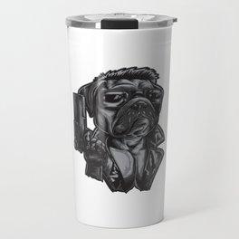Pug Dog Assasin Travel Mug
