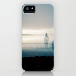 Silence on the Sound - Film Double Exposure taken on the Oregon Coast iPhone Case