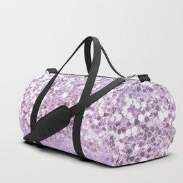 Sparkly Unicorn Lilac Glitter Ombre Duffle Bag