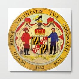 seal of Maryland  Metal Print