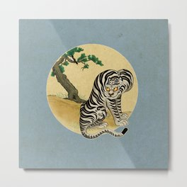 Tiger with magpie type-F : Minhwa-Korean traditional/folk art Metal Print