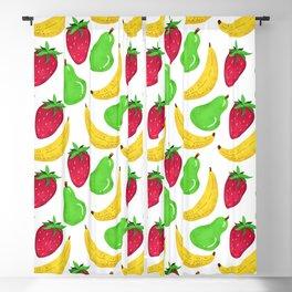 Fruit pattern // Strawberry Pear Banana explosion Blackout Curtain