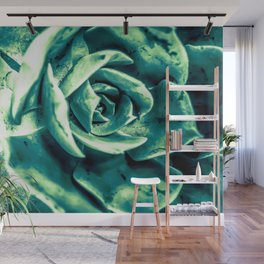 closeup green succulent plant texture abstract background Wall Mural