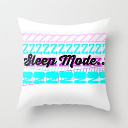 Sleep Mode (pink and blue) Throw Pillow
