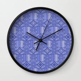 Purple African Ankara Print Wall Clock