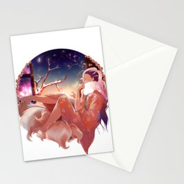 The kitsune and the firefly. Stationery Cards