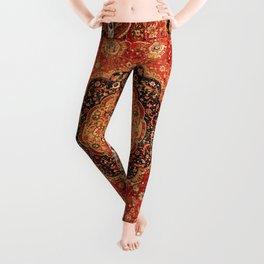 Seley 16th Century Antique Persian Carpet Print Leggings