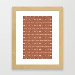 Adobe Cactus Pattern Framed Art Print