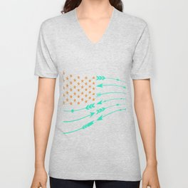American Flag With Arrows Export 01 Unisex V-Neck
