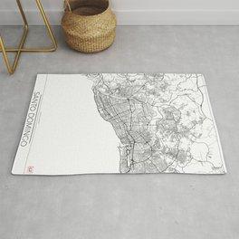 Santo Domingo Map White Rug