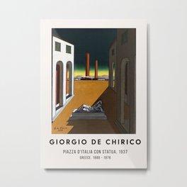 Giorgio De Chirico - Piazza d'Italia con statua, 1937 Metal Print