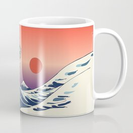 The Great Wave of Pug Kaffeebecher