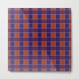 PLAID, RED AND BLUE Metal Print