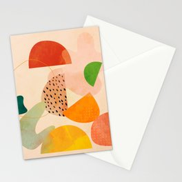 modern art abstract shapes play 1 Stationery Cards