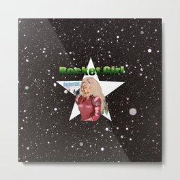 Rocket Girl female space fantasy art Metal Print
