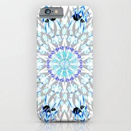 ice flake winter mandala iPhone Case