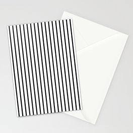 Black Pinstripe On White Pattern Stationery Cards