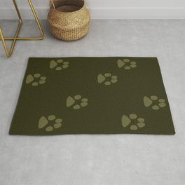 Paw Prints in a Line Rug