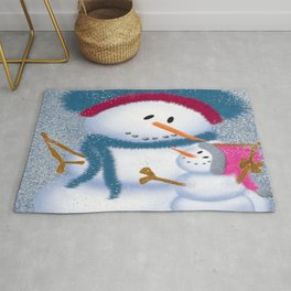 The SnowMomma And SnowGirl Rug