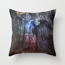 The death goddess Throw Pillow