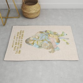 A Traveler's Heart + Quote Rug