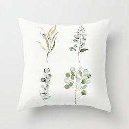 Eucalyptus Branches Throw Pillow
