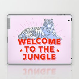 welcome to the jungle - retro tiger Laptop & iPad Skin