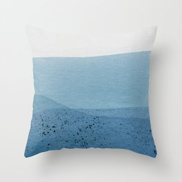 Positive Blue Throw Pillow