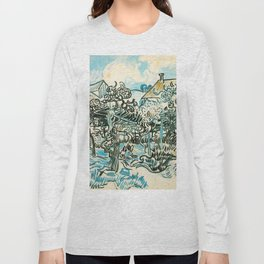OLD VINEYARD WITH A PEASANT WOMAN - VINCENT VAN GOGH Long Sleeve T-shirt
