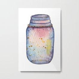 Jar of galaxy Metal Print