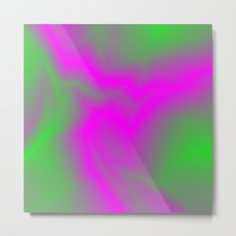 Blurry outlines of lightning with a swirling gap. Metal Print