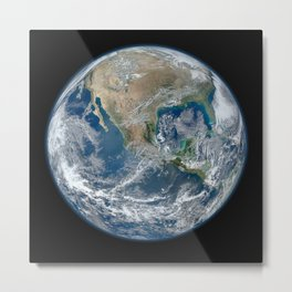 Planet Earth from Space Metal Print