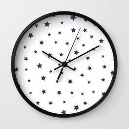 White starry night Wall Clock