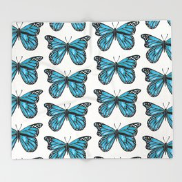 Blue Morpho Butterfly Throw Blanket