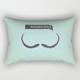 Salvador Dali (Famous mustaches and beards) Rectangular Pillow