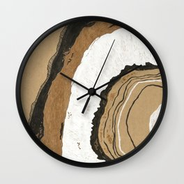 Gold Agate Wall Clock