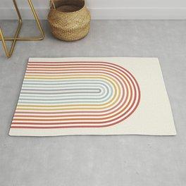 Minimalist colorful rainbow lines  Rug