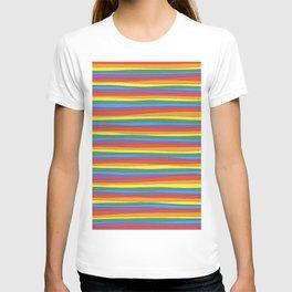 Horizontal Rainbow Stripes T-shirt