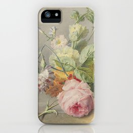 Georgius Jacobus Johannes van Os - Flower arrangement - 1800/1825 iPhone Case