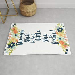 Though she be but little she is fierce! A Midsummer Night's Dream. Rug