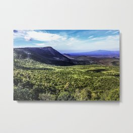 Mountain Peak Covered in Green Trees and Grasses on the Edge of the African Savannah of the Masai Mara National Reserve in Kenya Metal Print