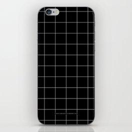 Black Grid /// pencilmeinstationery.com iPhone Skin