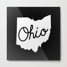 Ohio State Map Art Metal Print