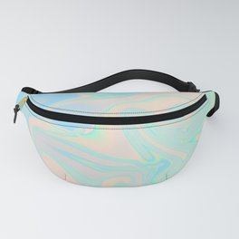 Faux Holographic Iridescent Texture Fanny Pack