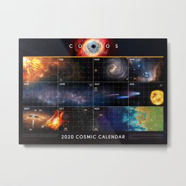 Cosmic Calendar 2020 — Cosmos: Possible Worlds Metal Print