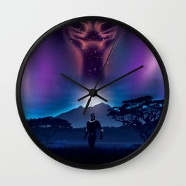 Black Panther Heaven Wall Clock
