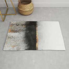 Soot And Gold Rug