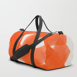 Mid Century Modern Abstract Painting Orange Watercolor Brush Strokes Duffle Bag
