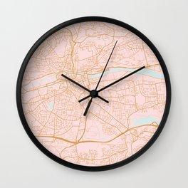 Pink Cork map, Irealnd Wall Clock